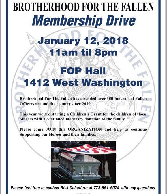Membership Drive – January 12