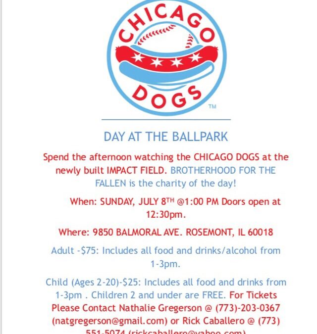 Chicago Dogs Day at the Ballpark – July 8th