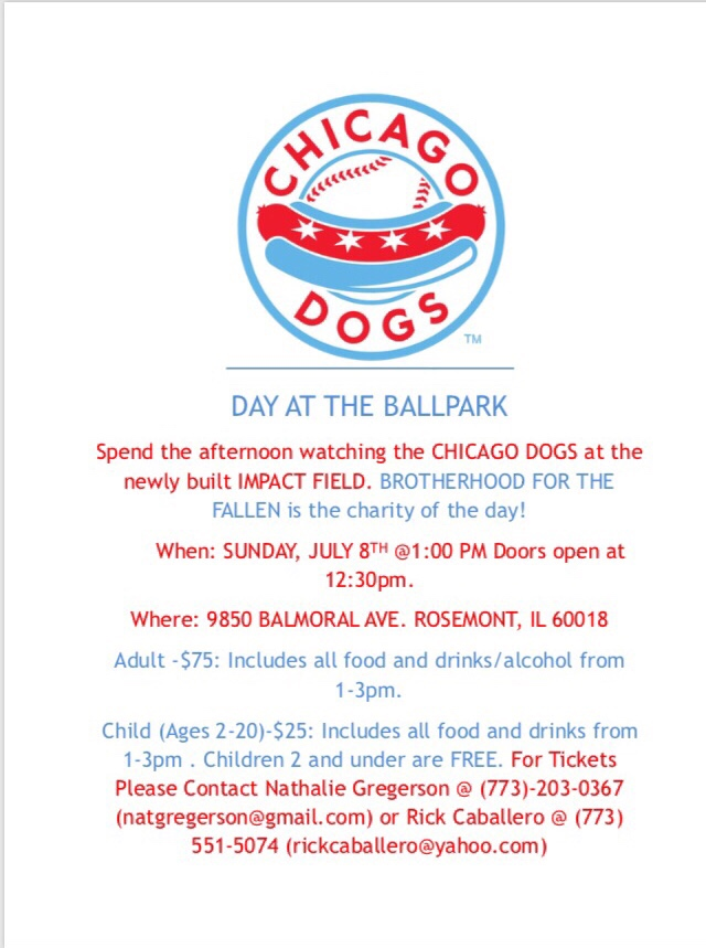 Chicago Dogs and Brotherhood for the Fallen